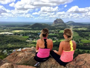 Jesseca Paans & Meah Whelan Making Adventure Beautiful on Mount Ngungun